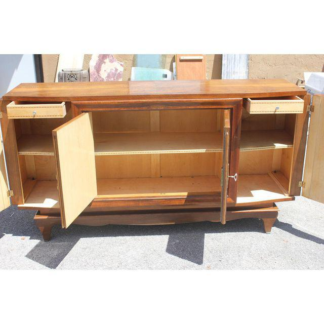 French Art Deco Exotic Walnut Sideboard / Buffet Circa 1940s. For Sale In Miami - Image 6 of 10
