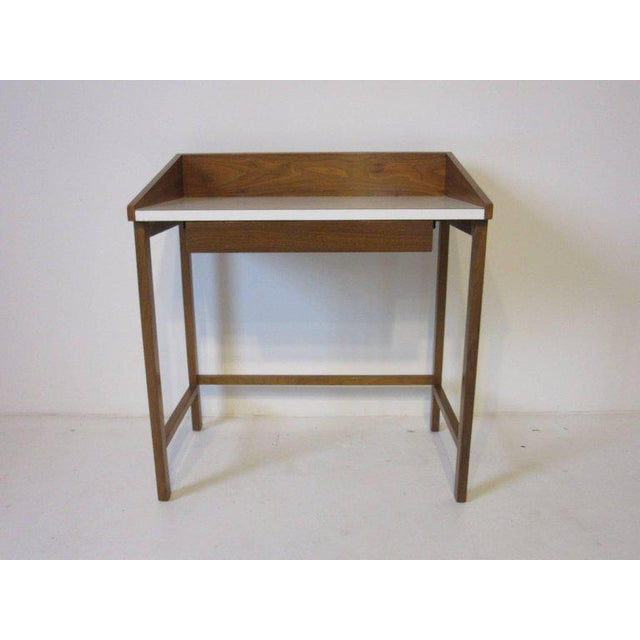 1950s Rare Dunbar Small Vanity or Makeup Table by Edward Wormley For Sale - Image 5 of 8