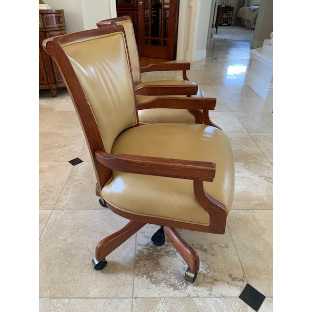 Sam Moore Excaliber Leather Swivel Office Chairs - a Pair For Sale - Image 11 of 12