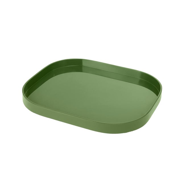 Contemporary Small Stacking Tray in Lettuce Green - Miles Redd for The Lacquer Company For Sale - Image 3 of 3