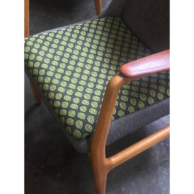 Aksel Bender Madsen Bender Madsen Upholstered Teak High Boy Lounge Chair For Sale - Image 4 of 5