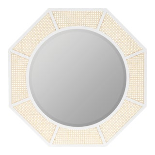 Lula Wall Mirror, White For Sale