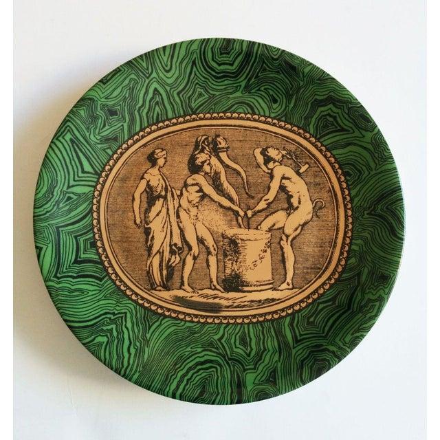 Vintage Piero Fornasetti Malachite Plates - Pair - Image 4 of 5
