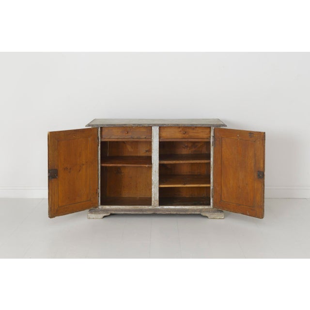 19th Century Italian Abruzzo Two-Door Buffet in Original Paint For Sale - Image 11 of 13