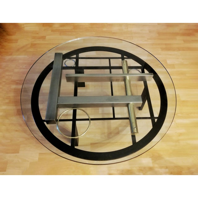 Kaizo Oto For Dia Industrial Memphis Round Coffee Table Chairish
