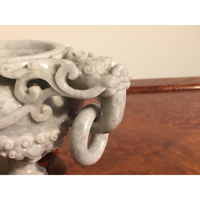Gray Chinese Gray Nephrite Jade Censer, mid 20th century For Sale - Image 8 of 9