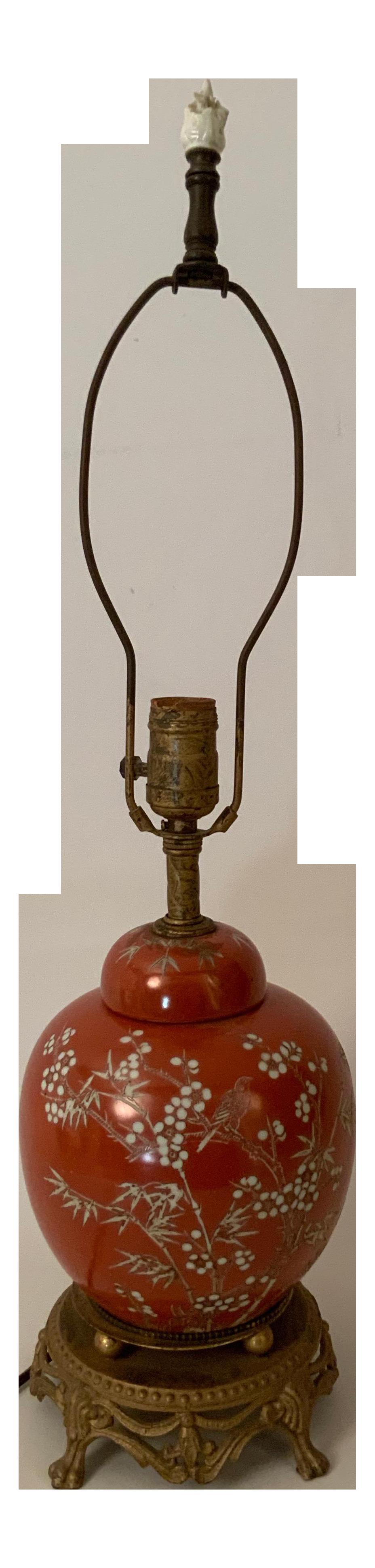 1930s Chinese Ginger Jar Table Lamp Chairish