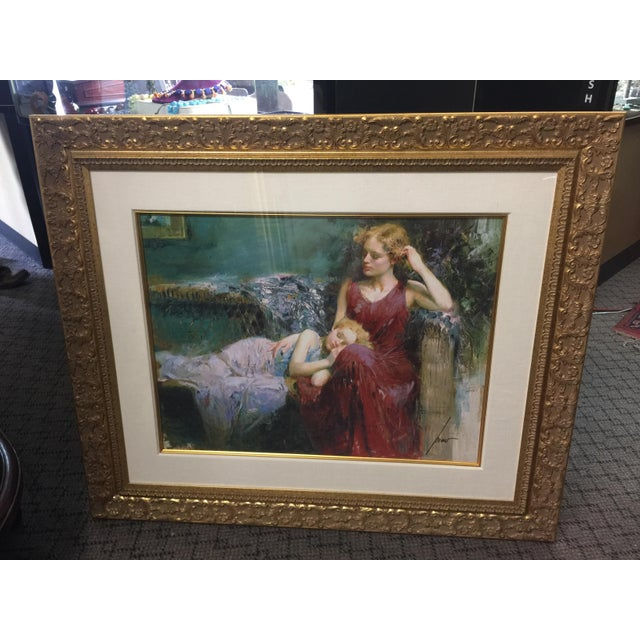 1990s Pino Daeni Lithograph Mother & Child Signed For Sale - Image 5 of 5
