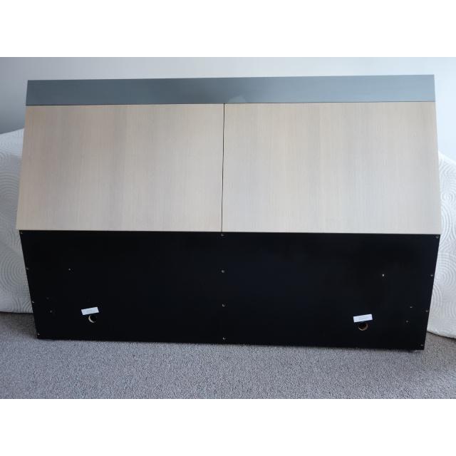 Unique Vintage Ello Floating Bed Platform and Bedside Tables - 3 Piece Set - Image 6 of 10
