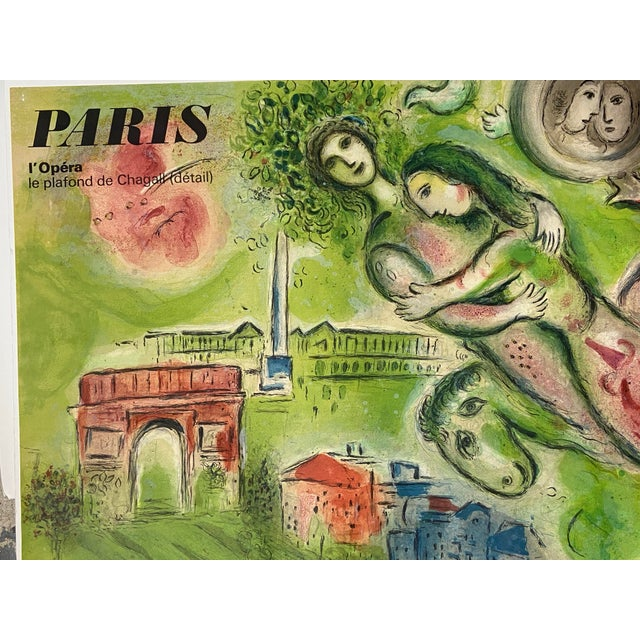 "Marc Chagall Original Vintage 1964 Lithograph Poster ""Romeo and Juliet"" Paris Opera For Sale In San Diego - Image 6 of 11"