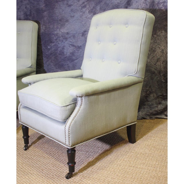 English Scalamandre Furniture Club Chairs- A Pair For Sale - Image 3 of 11