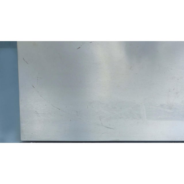 Transparent Sally Sirkin Lewis for J. Robert Scott Stainless Steel and Glass Dining Table For Sale - Image 8 of 12