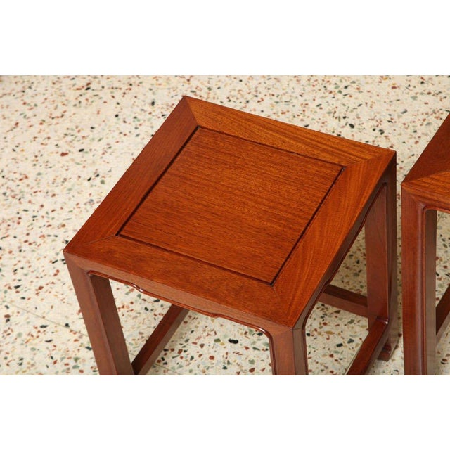 1970s Vintage Baker Far East Collection Style Teak Nesting Tables - Set of 4 For Sale - Image 9 of 12