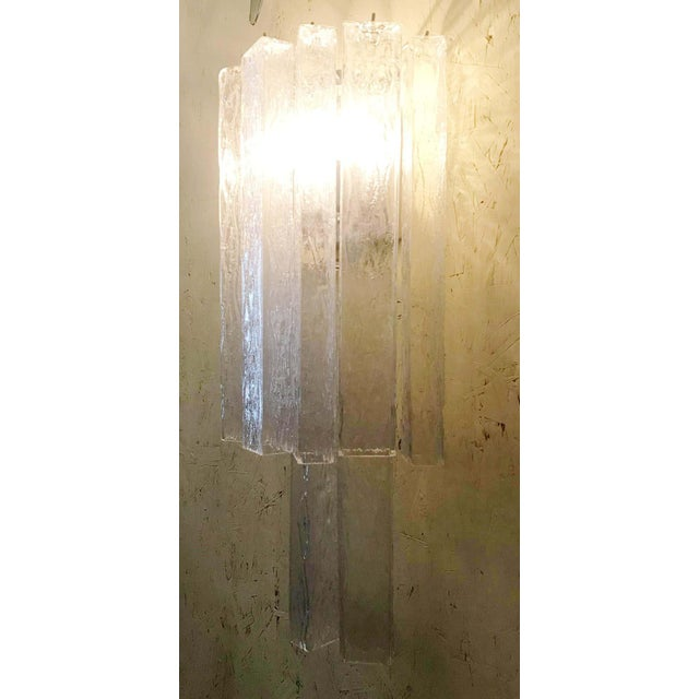 Italian Murano Glass Tubes Sconces - a Pair For Sale - Image 9 of 12
