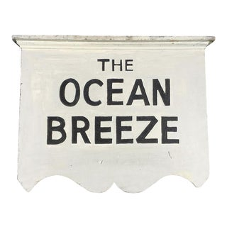 "1930's Americana ""The Ocean Breeze"" Cape Cod Motel Sign"