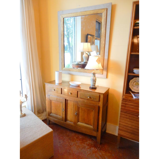 Brown Narrow French Provincial Walnut Buffet For Sale - Image 8 of 9