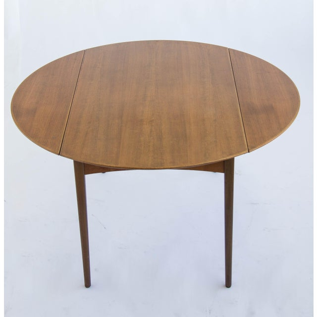 Dux of Sweden Round Drop Leaf Dining Table - Image 9 of 10
