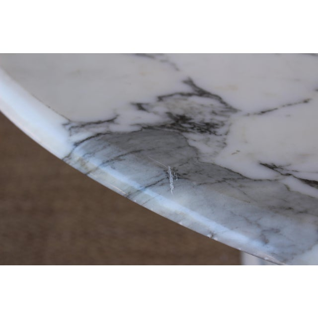 Vintage 1970s Post-Modern Italian Marble Dining Table For Sale - Image 10 of 12