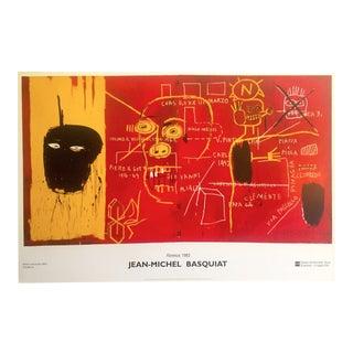 "Jean Michel Basquiat Rare Vintage Offset Lithograph Print Exhibition Poster "" Florence "" 1983 For Sale"