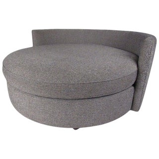Contemporary Modern Round Sofa or Lounge Chair For Sale