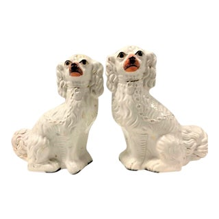 Mid-19th Century Staffordshire Spaniel Dogs - a Pair For Sale