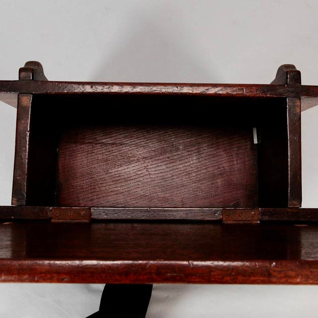 French Hand Carved Oak Stool with Grapes - Image 8 of 9