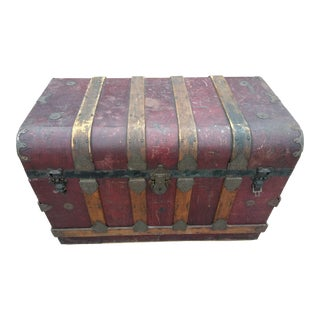 19th Century Gothic Travel Trunk For Sale