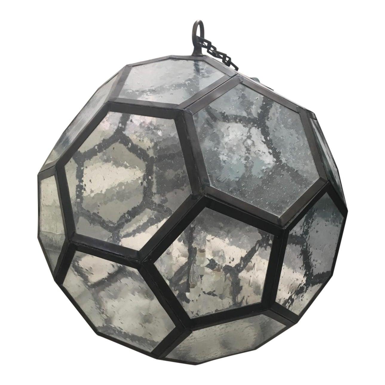 Kerry joyce hexagonal hanging globe light fixture chairish arubaitofo Gallery