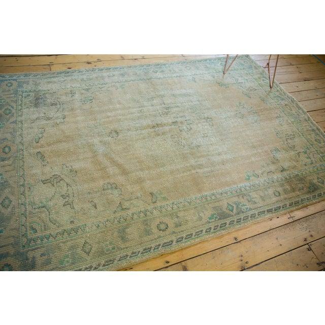 "Vintage Distressed Oushak Carpet - 5'8"" X 8'3"" For Sale - Image 9 of 12"