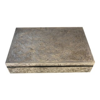 Engraved Silverplate Box