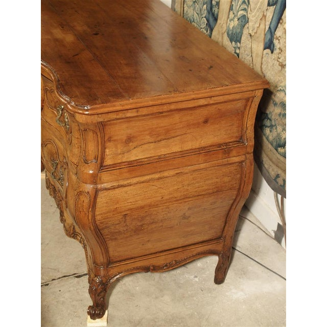 "Rare Period Louis XV Pearwood Commode ""En Tombeau"" Circa 1750 For Sale - Image 4 of 11"