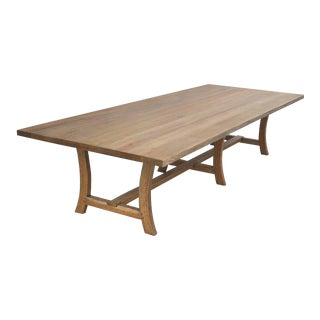 Farmhouse Custom Dining Table in Rift-Sawn White Oak For Sale