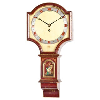 English Chinoiserie Wall Clock For Sale