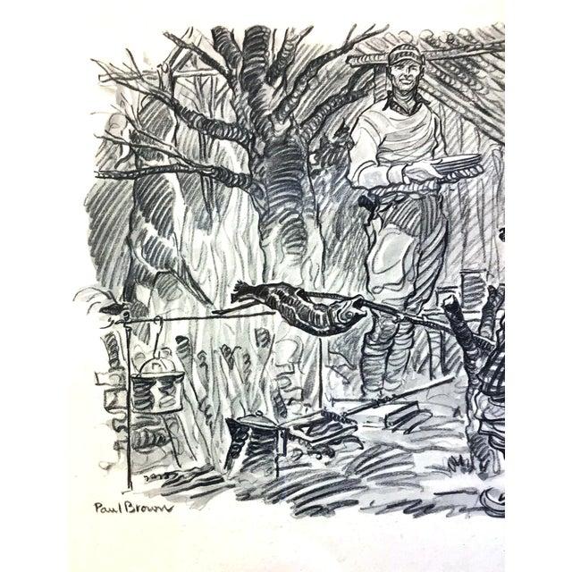 Black 1947 Paul Desmond Brown for Brooks Brothers Calendar Print For Sale - Image 8 of 9