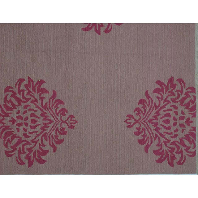 Soumak Design Hand Woven Wool Rug - 9' X 12' - Image 3 of 5