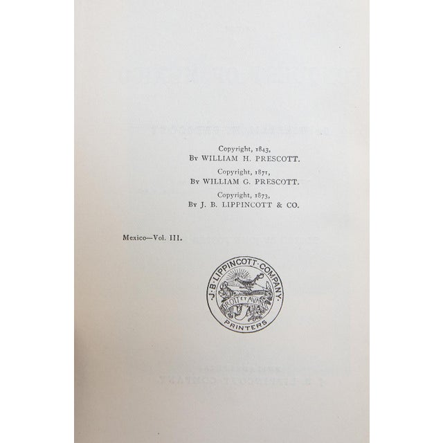 History of the Conquest of Mexico by William H. Prescott For Sale - Image 4 of 8