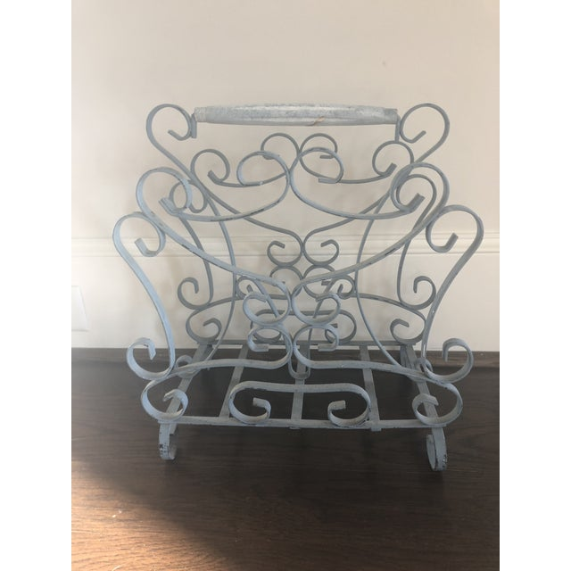 1950s Vintage French Iron Magazine Rack For Sale In Raleigh - Image 6 of 6
