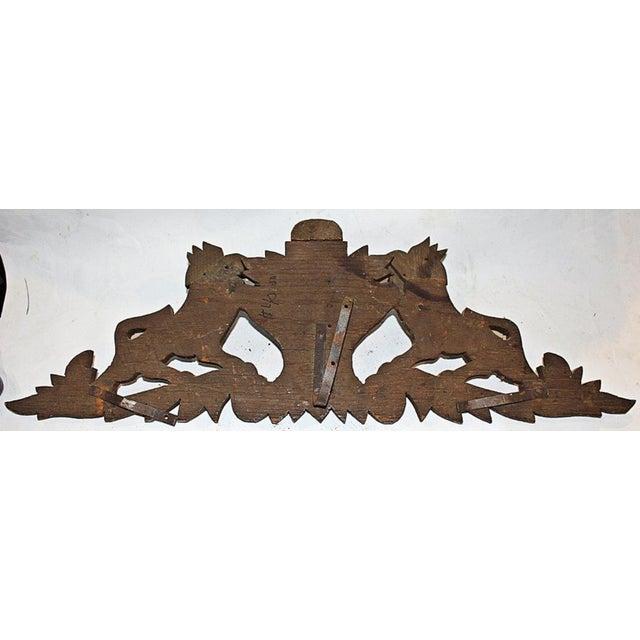 French Antique Oak Lion Cartouche - Image 8 of 8