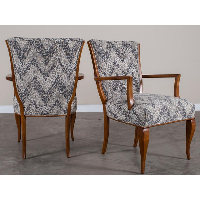 1940s Vintage French Art Deco Beechwood Chairs - a Pair For Sale - Image 10 of 11