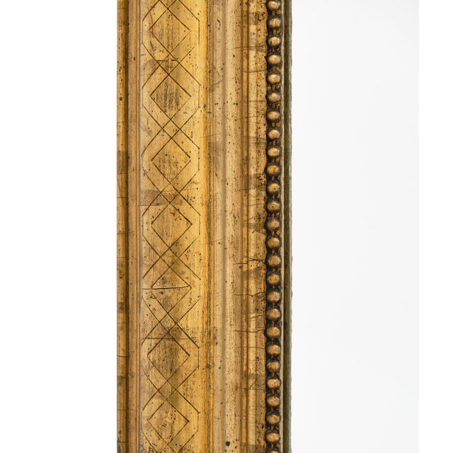 Wood Antique French Louis Philippe Period Mirror For Sale - Image 7 of 10
