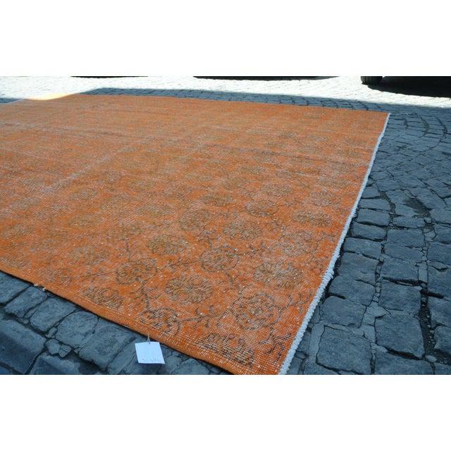Turkish Oversized Orange Rug 74 113 Chairish