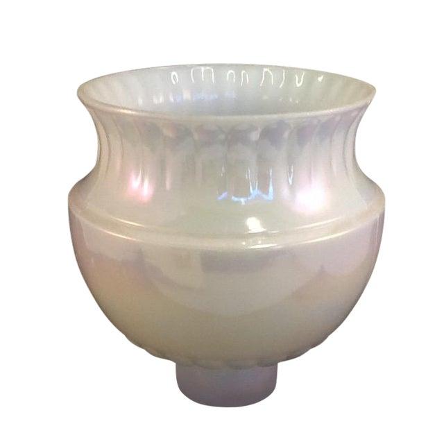 Vintage Irridesent Milkglass Lamp Globe - Image 1 of 5