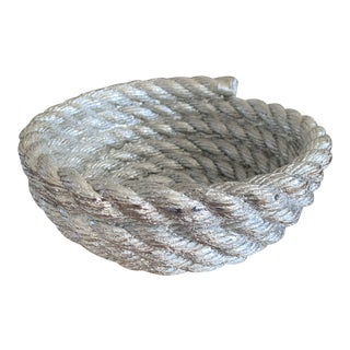 Harry Allen X Areaware Chrome Coil Rope Bowl For Sale