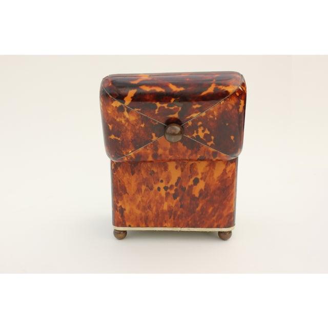 Antique Georgian Tortoiseshell Tea Caddy - Image 8 of 8