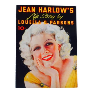 Jean Harlow's Life Story by Louella Parsons For Sale
