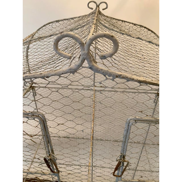 Vintage 1950s French Style Metal Birdcage For Sale - Image 4 of 13