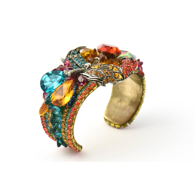 Red Wendy Gell Parrot Cuff Bracelet For Sale - Image 8 of 9