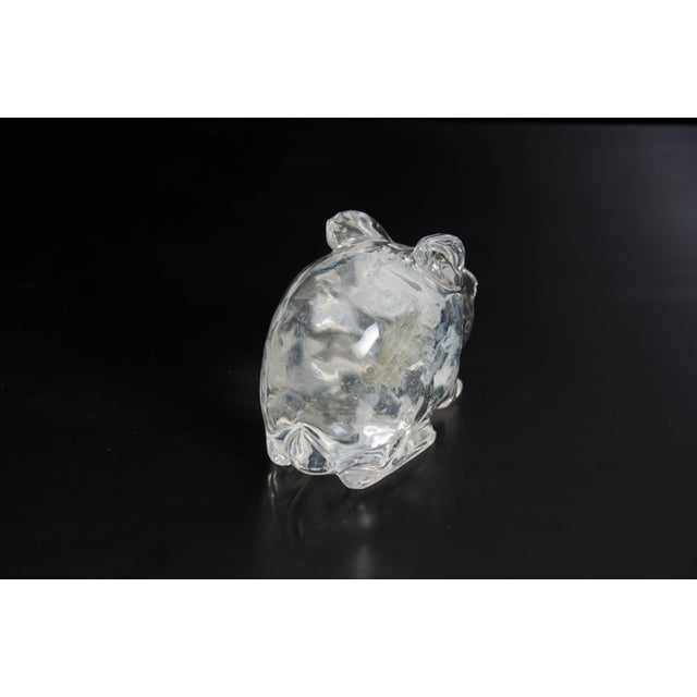Contemporary Rabbit in Hand Carved Crystal by Robert Kuo, Limited Edition For Sale - Image 3 of 6