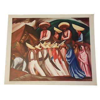 Vintage Orozco Lithograph For Sale