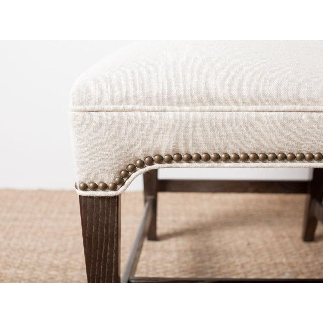 2010s Claeys White Upholstered Chair For Sale - Image 5 of 6
